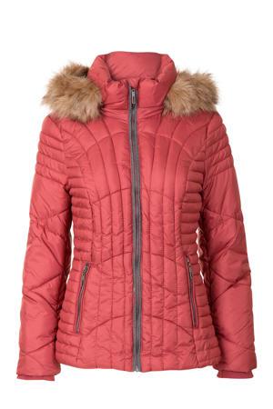 korte jas met capuchon roze