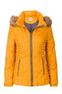 Miss Etam Regulier korte jas met capuchon geel (dames)