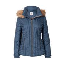 product afbeelding Miss Etam Regulier korte jas met capuchon blauw (dames)