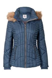 Miss Etam Regulier korte jas met capuchon blauw (dames)