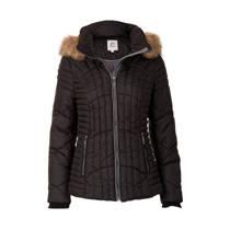product afbeelding Miss Etam Regulier korte jas met capuchon zwart (dames)