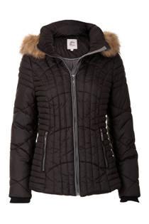 Miss Etam Regulier korte jas met capuchon zwart (dames)