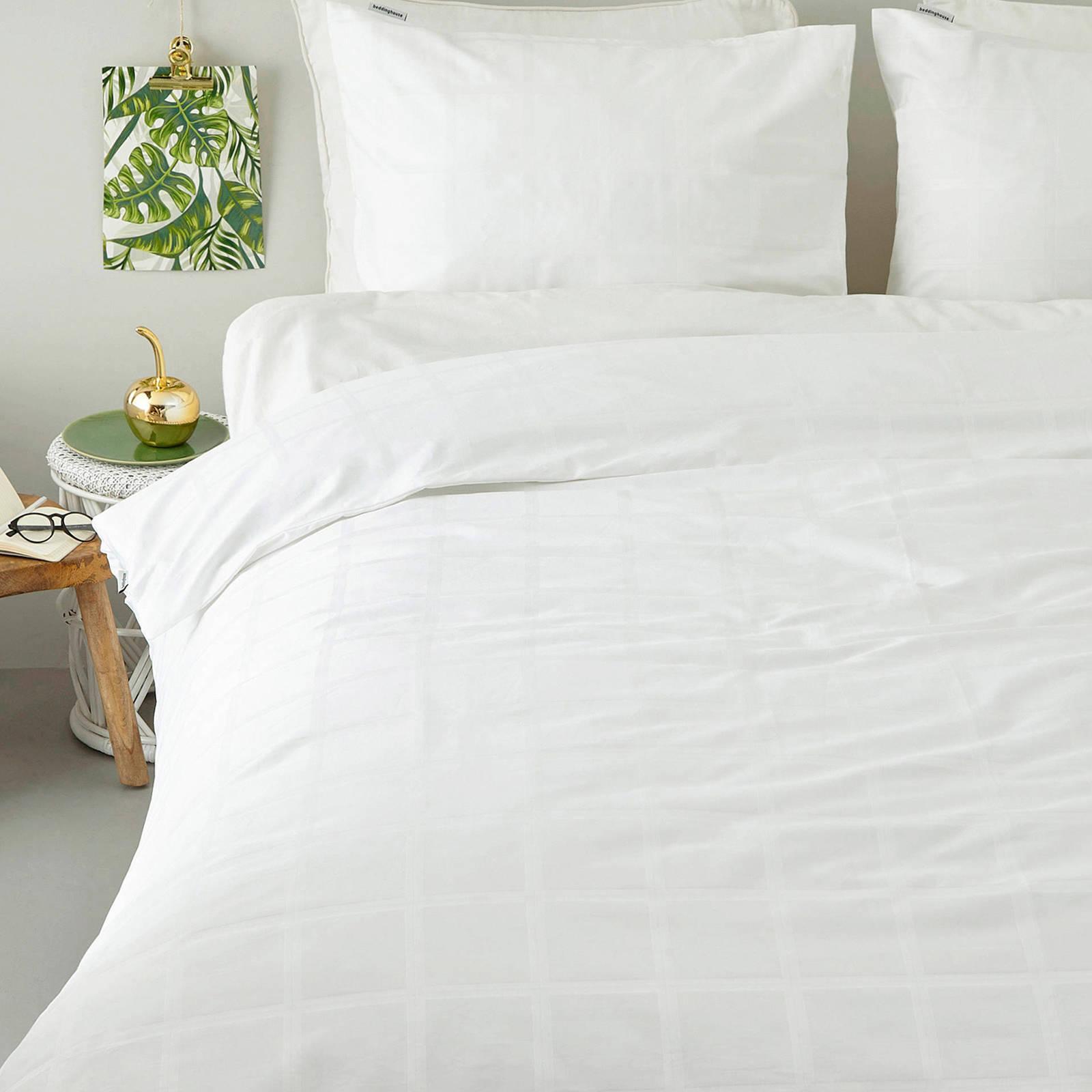 beddinghouse katoensatijnen dekbedovertrek lits jumeaux wit
