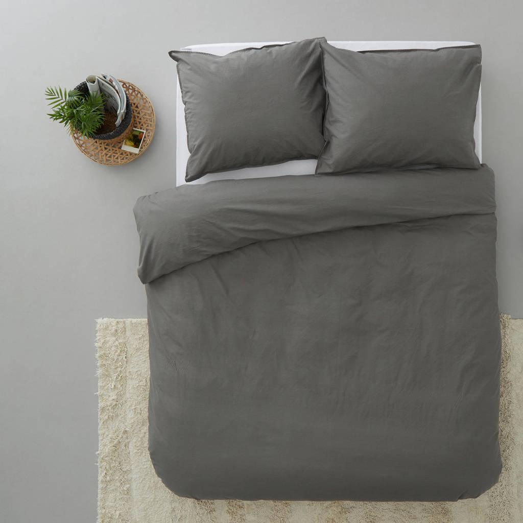 Beddinghouse katoenen dekbedovertrek lits jumeaux, Grijs, Lits-jumeaux (240 cm breed)