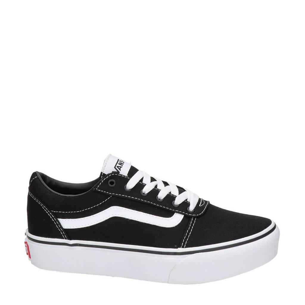 VANS  Ward Platform sneakers zwart, Zwart