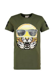 T-shirt met magische pailletten groen
