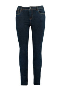 slim fit jeans donkerblauw (dames)