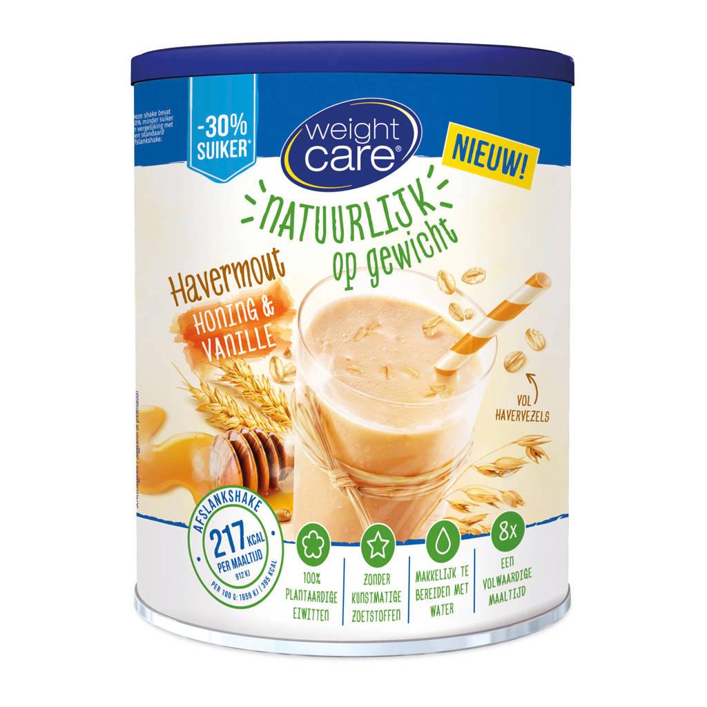 Weight Care Havermout afslankshake honing & vanille - 1 blik 440 gr