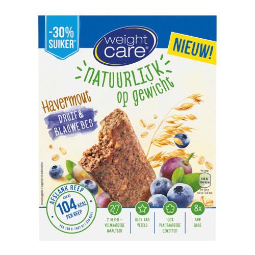 Weight Care havermout reep druif & bosbes - 1 doos met 8 stuks kopen