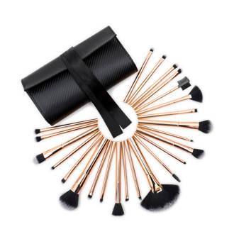 Cosmetic Brush Set Rose Gold - 24 make-up kwasten