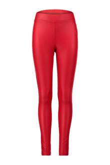 legging van imitatieleer rood