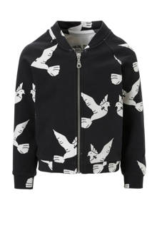 bombervest Love Birds antraciet
