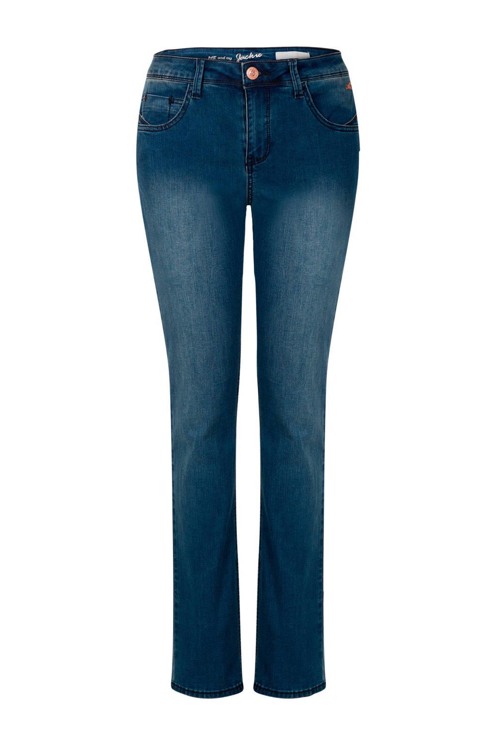 Miss Etam Regulier straight fit jeans Jackie 30 inch, Blauw