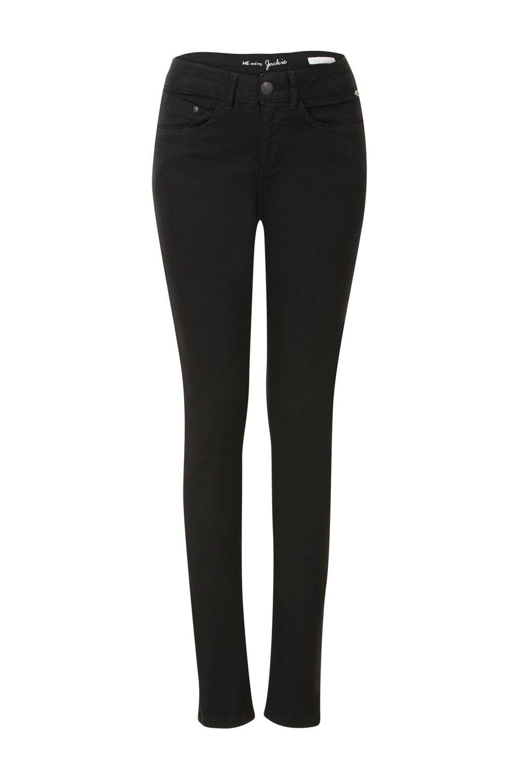 Miss Etam Regulier slim fit jeans Jackie 32 inch zwart, Zwart