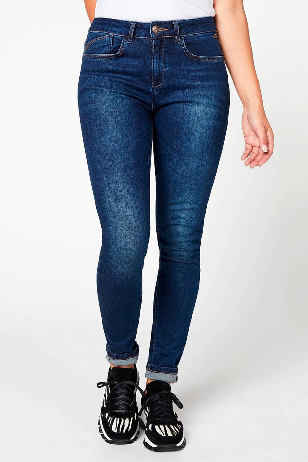 Miss Etam Regulier slim fit jeans blauw, Blauw