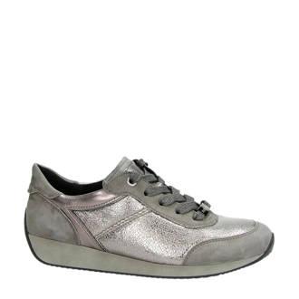 leren sneakers Fusion 4 taupe