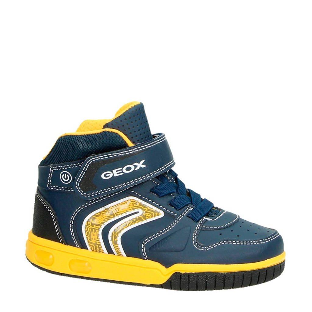 63c91a8784024c Geox sneakers met lichtjes, Blauw/geel