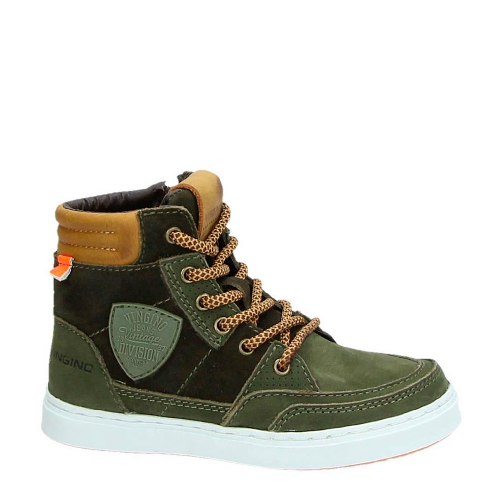 Vingino  leren sneakers Mari, Groen