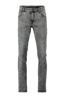 CoolCat slim fit jeans met gebleekte wassing grijs (heren)