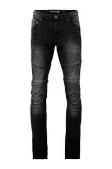 skinny jeans met slijtage zwart