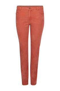 Paprika straight fit broek rood