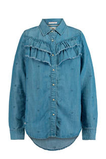 America Today Junior denim blouse Brook blauw (meisjes)