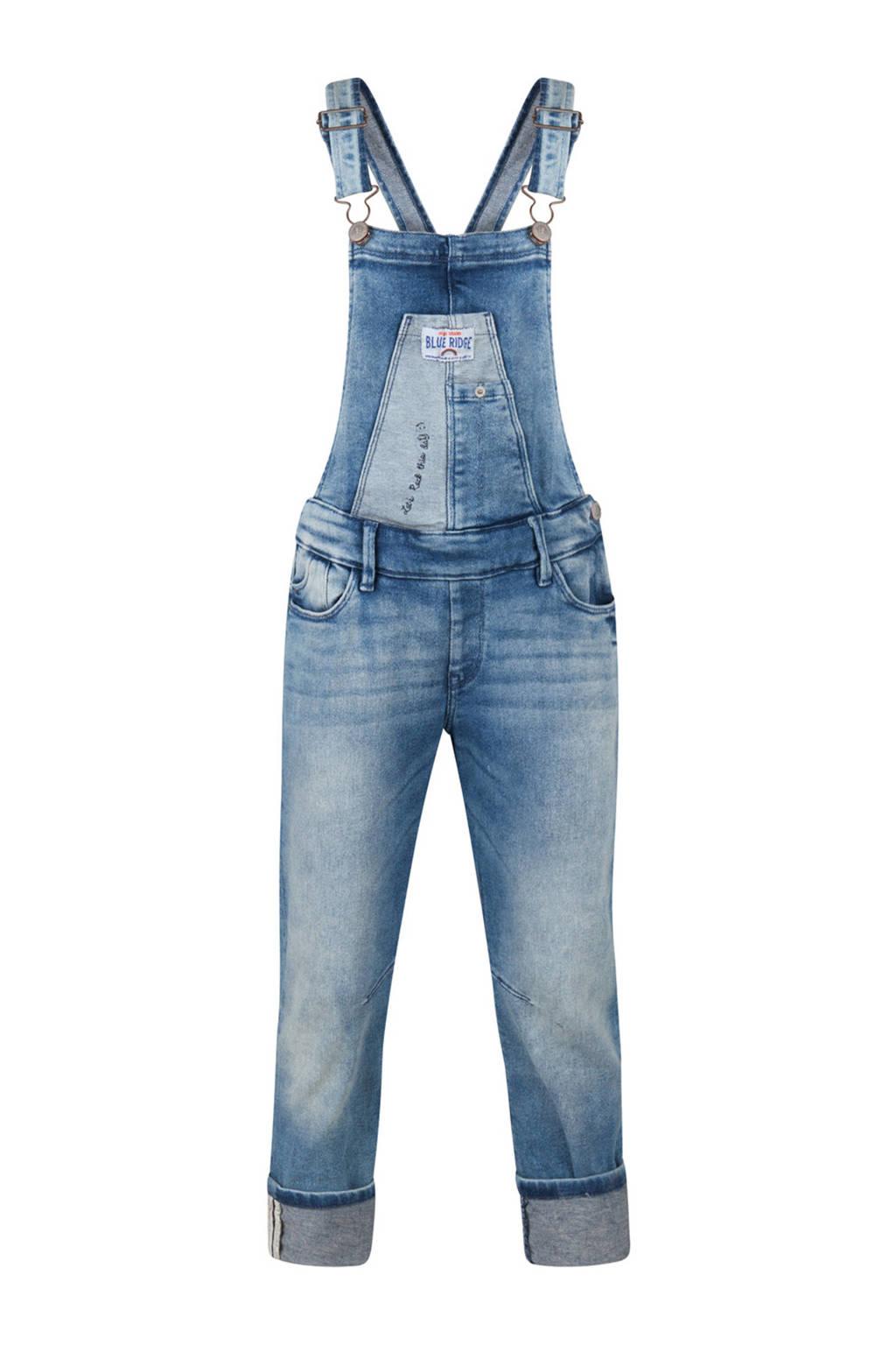 WE Fashion Blue Ridge straight fit tuinbroek, Stonewashed