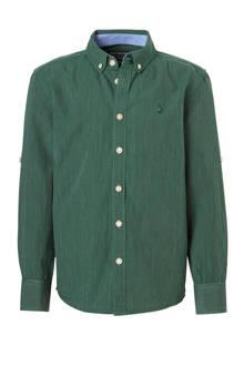 Here & There overhemd donkergroen