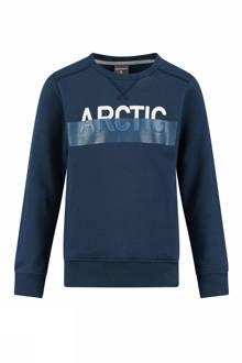 sweater Karate met tekst blauw