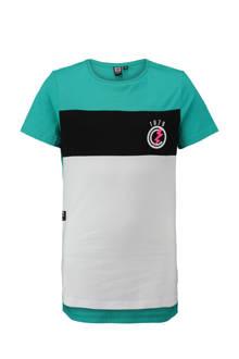 long fit T-shirt met opdruk groen