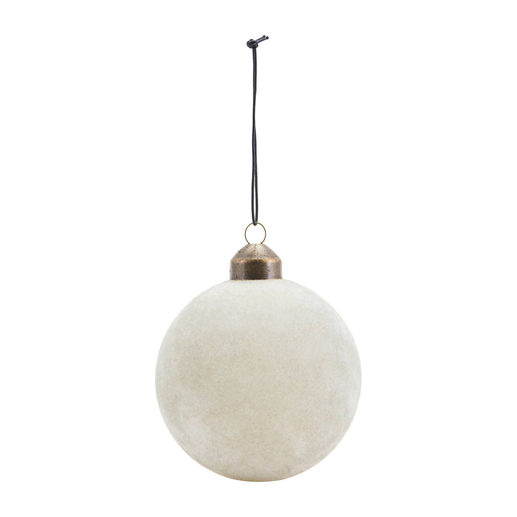 House Doctor kerstbal (Ø8 cm), Lichtgrijs