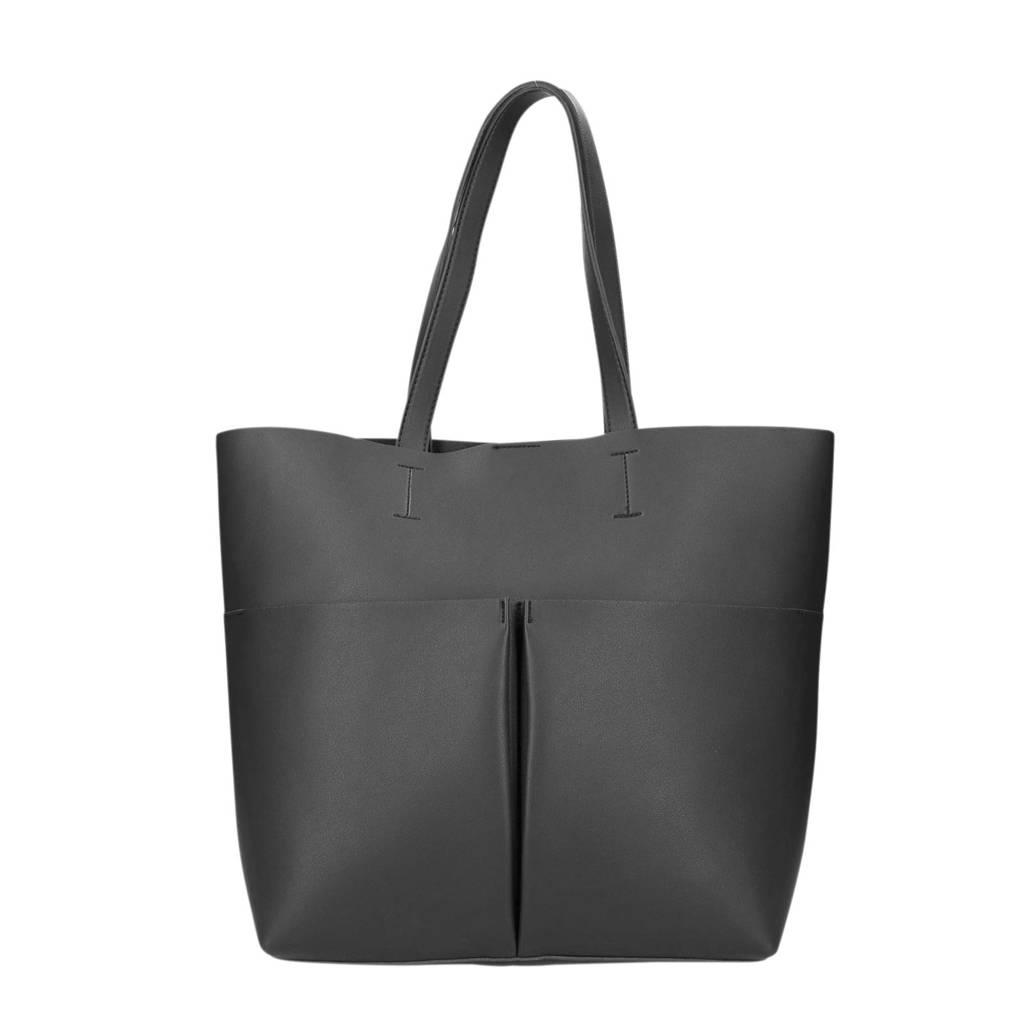 Sacha   shopper zwart, Zwart