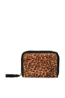 Sacha portemonnee met panterprint bruin