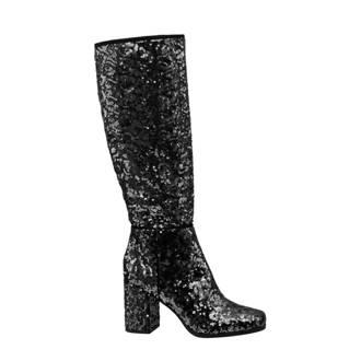 Graceland laarzen met pailletten zwart