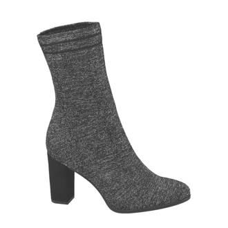 Graceland sock boots met glitters grijs