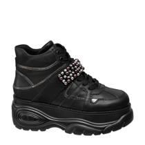 Graceland dad sneakers met sierparels zwart (dames)
