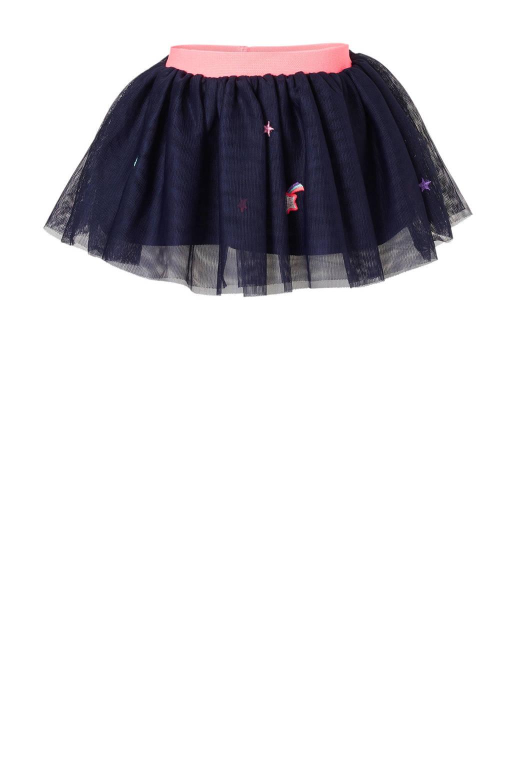 C&A Baby Club tule rok met borduursels, Donkerblauw