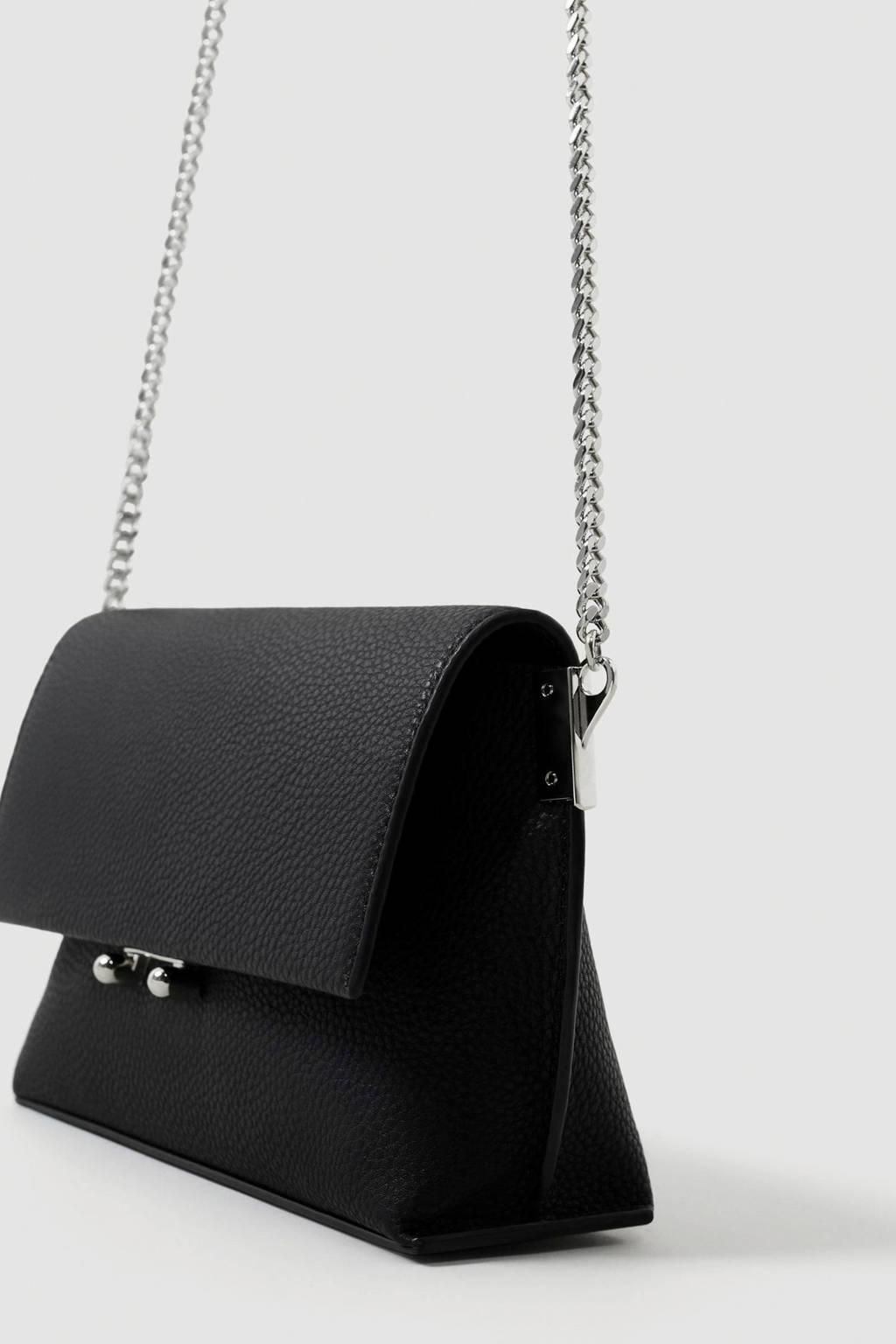 Mango  crossbody tas zwart, Zwart