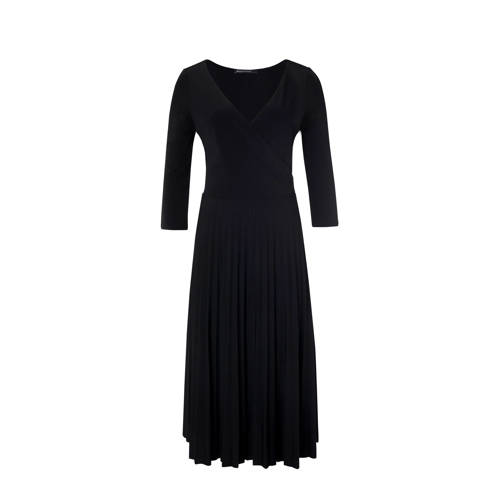 Juno midi jurk zwart