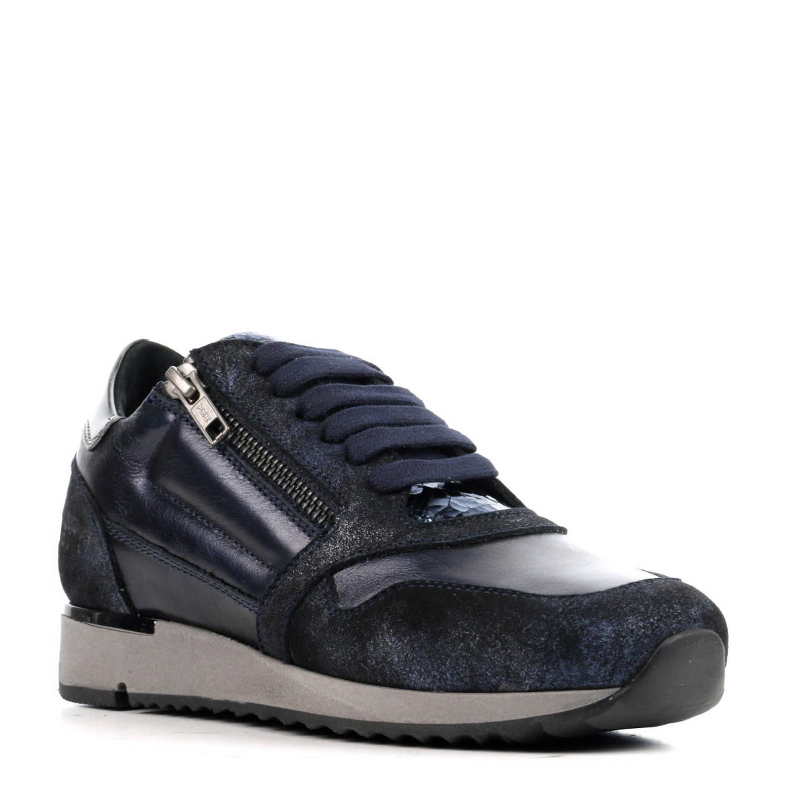 donkerblauwe dames sneakers