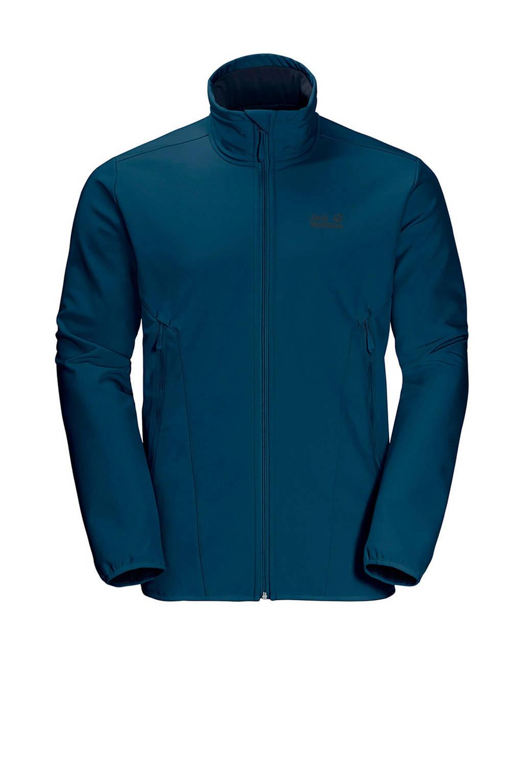 Jack Wolfskin softshell jas Northern Pass blauw, Poseidon Blue