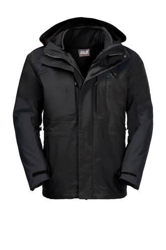 3-in-1 outdoor jas Thorvald zwart