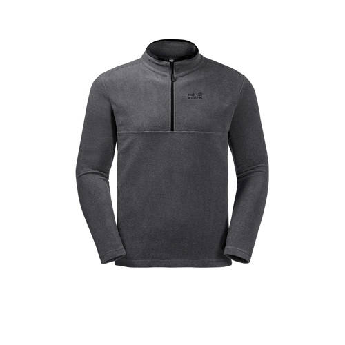 Jack Wolfskin outdoor fleece sweater Arco zwart-grijs