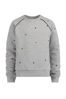 sweater Sara met sterren grijs