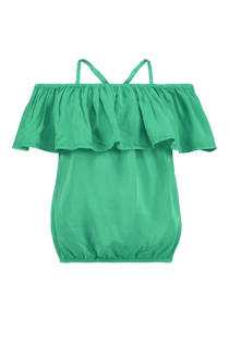 CoolCat open shoulder top groen (meisjes)