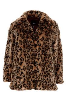 Plus coat met luipaardprint