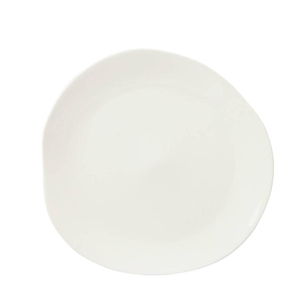 whkmp's own Irregular dinerbord (Ø27 cm) (set van 4), Wit