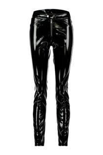 CoolCat lak skinny fit broek zwart