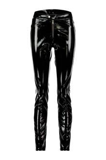lak skinny fit broek zwart