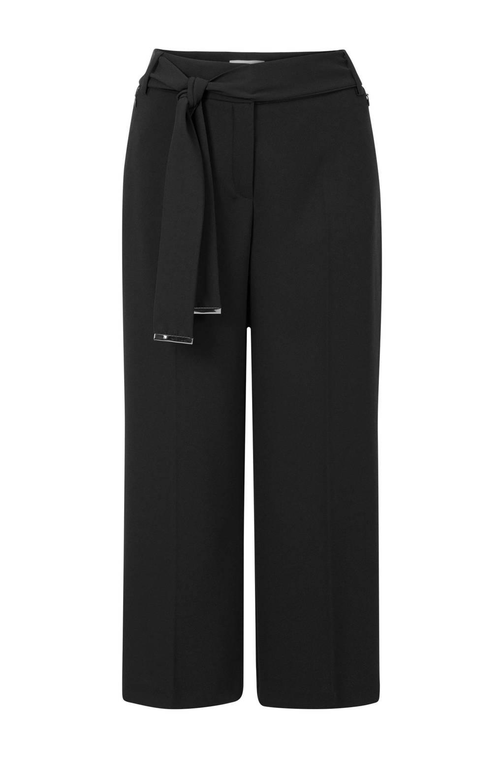 Promiss culotte straight fit zwart, Zwart